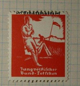 German Test Camping Ground German Tourism Poster Stamp