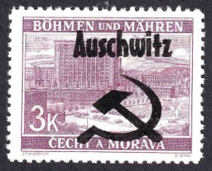 BOHEMIA & MORAVIA 35 AUSCHWITZ OVERPRINT USED XF SOUND