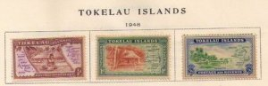 Tokelau Islands Sc 1-3 (1948) MH Set of (3ea) Very Fine