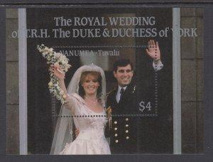 Tuvalu Nanumea 73 Royal Wedding Souvenir Sheet MNH VF