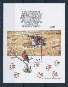 [34747] Micronesia 2000 Animals Cats Hunting MNH Sheet
