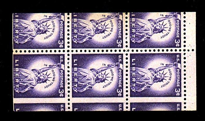 1035F MINT Misperfed Booklet Pane F-VF NH