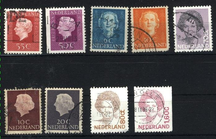 Netherlands   9 different used  PD