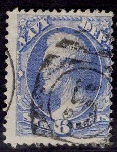 US Stamp #O38 6c Navy USED SCV $25.00