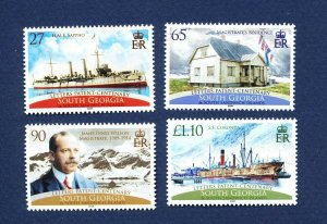 SOUTH GEORGIA - # 371-374 - MNH - ships, letter patent - 2008