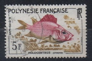 FRENCH POLYNESIA - 1962 - HOLOCENTRUS - FISH - 5f - Used -