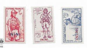 French Guinea #B6-8 MH - Stamp - CAT VALUE $5.25