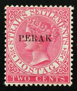 Malaya 1890 Perak opt Straits Settlements QV 2c MLH SG#22 M2311