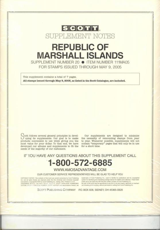 Marshall Islands Supplement # 20