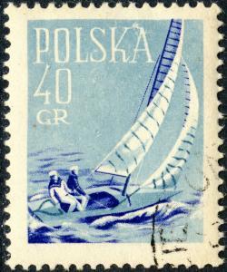 POLOGNE / POLAND - 1959 - Mi1086 40gr Sailing - Sport Set - CTO
