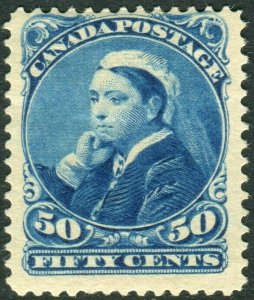 CANADA-1893 50c Blue.  A mounted mint example, hinge remainder Sg 116