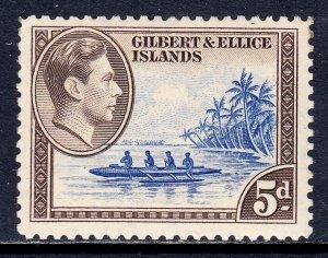Gilbert and Ellice Islands - Scott #46 - MNH - Gum toning, soiling UR - SCV $6
