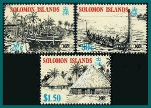 Solomon Islands 1988 Expo World Fair, MNH #611-613,SG618-SG620