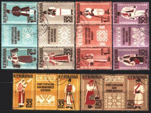 Romania. 1958. 1738A-49A. Folk costumes. USED.