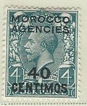 Great Britain offices in Morocco heavy hinged mhh sc 59