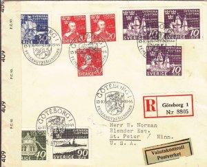 1944, Goteborg, Sweden to St. Peter, MN, Censored, See Remark (C3090)