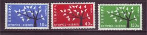 J18915 Jlstamps 1963 cyprus set mh #219-21 europa