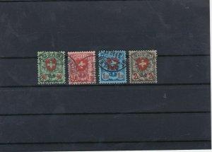 Switzerland 1924 Used Stamps Set CAT£36 Ref: R6749