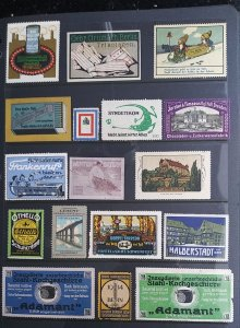 World Exhibition, Convention, Stamp Show, Poster, Label stamp Collection LOT#Q17