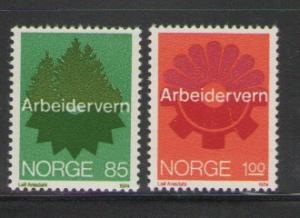 Norway Sc 637-8 1974 Safe Working stamps mint NH