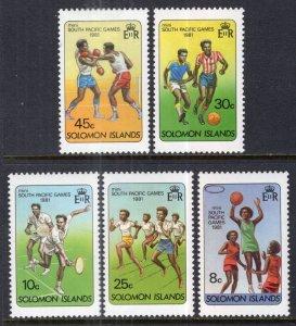 Solomon Islands 444-448 Sports MNH VF