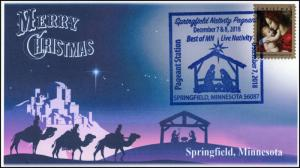18-364, 2018, Christmas, Pictorial Postmark, Event Cover, Springfield MN,