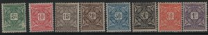 IVORY COAST, J9-J16, (8) SET, HINGED, 1914, REGULAR TYPE OF 1914