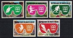 Upper Volta Winter Olympic Games Innsbruck 5v 1975 CTO MI#603-607