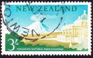 NEW ZEALAND 1964 3/- Shillings Bisque, Blue & Green SG799 Used