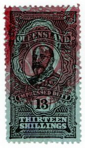 (I.B) Australia - Queensland Revenue : Impressed Duty 13/-