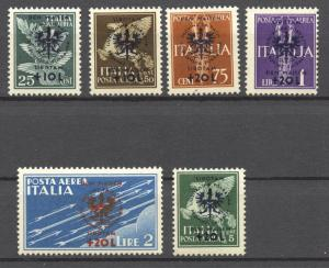German Occupation 1944 Laibach,   Mi. 33 to 38 , mint, hinged, complete set of 5