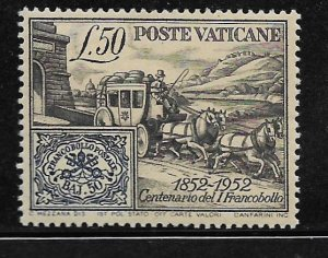 VATICAN CITY, 155, MNH, ROMAN STATES STAMP AND STAGECOACH