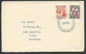 PAPUA NEW GUINEA 1961 cover ex WABANG......................................59754