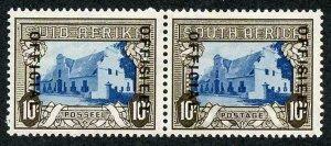 South Africa SGO29 10/- Blue and Sepia (18-19mm) Superb M/M