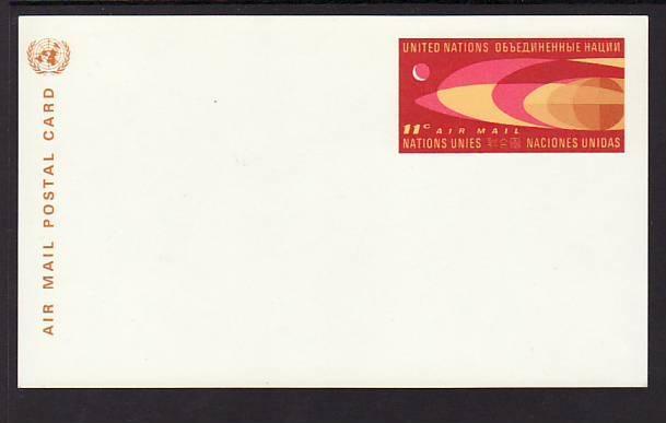 UN New York UXC5 Unused Postal Card VF