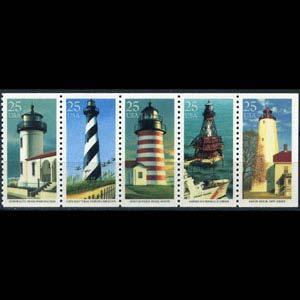 U.S.A. 1990 - Scott# 2474a Lighthouses Set of 5 NH