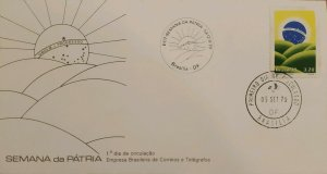 A) 1979, BRAZIL, NATIONAL WEEK, ORDER AND PROGRESS, FIRST DAY COVER