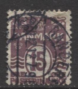 Denmark - Scott 63 - Definitive Issue -1905 - Used - Single 15o Stamp