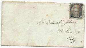 US Scott #73 Blackjack Tied to Cover NY City Red Carrier CDS & Cork Cancel