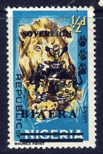 BIAFRA NIGERIA 1968 ½d. Nigeria Overprinted SOVEREIGN BIAFRA SG 5 MINT