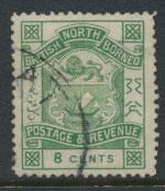 North Borneo  SG 43 blue green  Used  / FU    please see scans & details