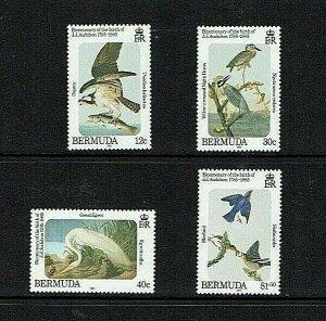 Bermuda:1983, Birth Bicentenary John Audubon, Bird Artist, MNH set