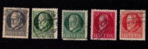 BAVARIA-Bayern-Scott #96-103 INCOMPLETE SET USED Early German States F-V