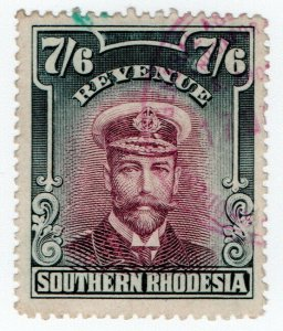(I.B) Southern Rhodesia Revenue : Duty Stamp 7/6d