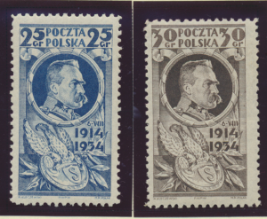 Poland Stamps Scott #282 To 283, Mint Hinged - Free U.S. Shipping, Free World...