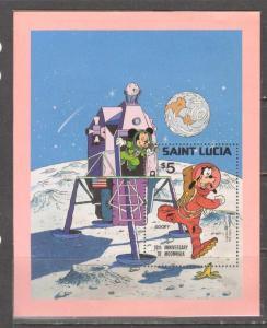 SAINT LUCIA Sc# 500 MNH VF Souvenir Sheet Disney Characters