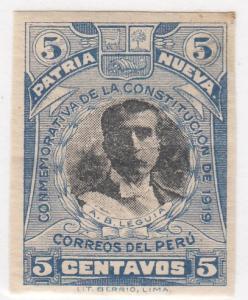 Peru, Sc 220a, MH, 1919, Angusto B. Leguia - Imperf