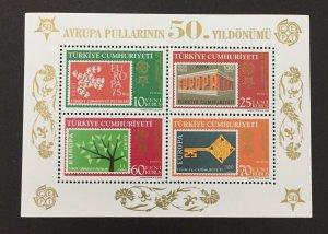 Turkey 2005 #2985 S/S, Europa 50th Anniversary, MNH.