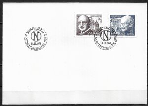 1978 Sweden 1271-2  1918 Nobel Prize winners C/S of 2 FDC