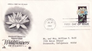 1992, Wildflowers-Fragrant Waterlily, Art Craft/PCS, FDC (E11350)